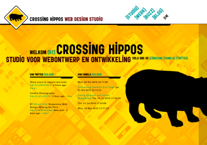 Webdesign Bureau crossing-hippos